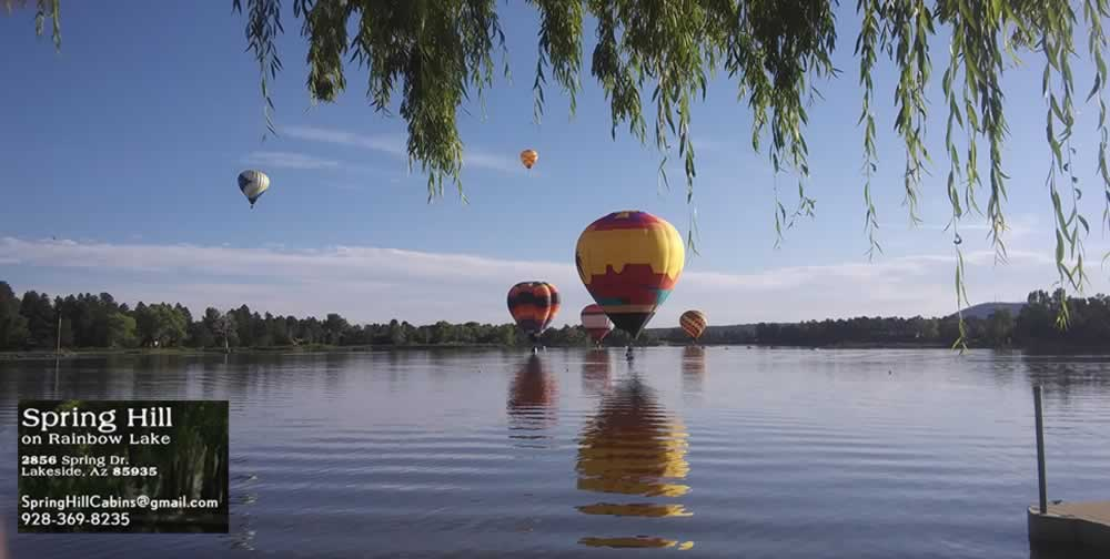 spring hill cabins on rainbow lake hot air balloons